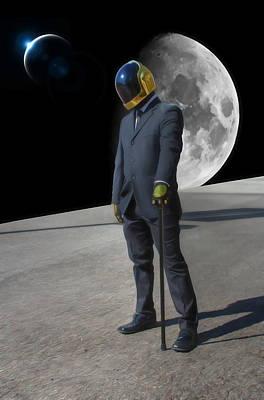 Digital Art - Daft Punk - Somewhere In Space by Dan Stone