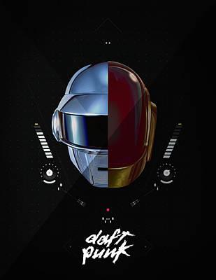 Daft Punk Photograph - Daft Punk by Srdjan Petrovic