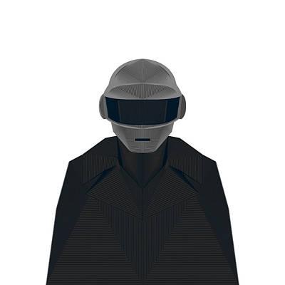 Daft Punk Art Print by Tharanas Chuaychoo