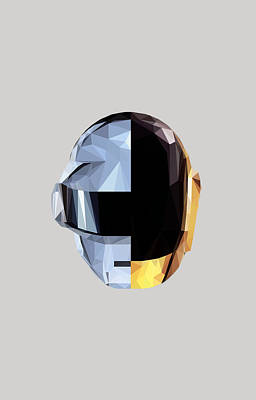 Daft Punk Digital Art - Daftpoly by Juan Sierra