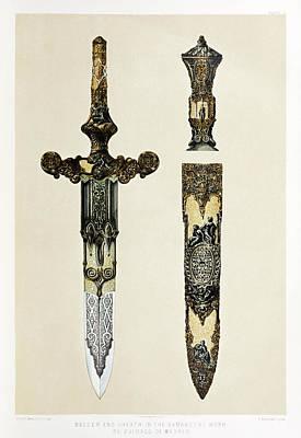 Drawing - Dagger And Sheath by Sir Matthew Digby Wyatt
