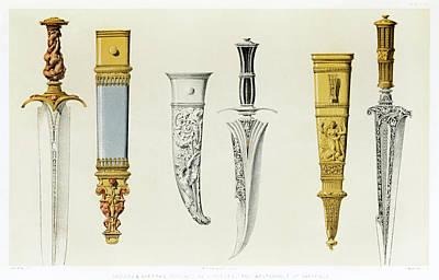 Drawing - Daggers And Sheaths by Sir Matthew Digby Wyatt