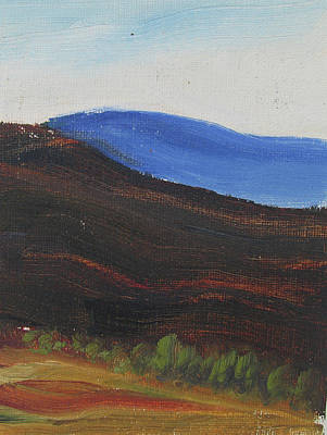 Painting - Dagrar Over Salenfjallen- Shifting Daylight Over Distant Horizon 2 Of 10_0035 50x40 Cm by Marica Ohlsson