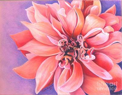 Art Print featuring the drawing Dahlia 2 by Phyllis Howard