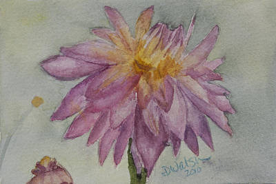 Art Print featuring the painting Dahlia At Eastport Me by Donna Walsh