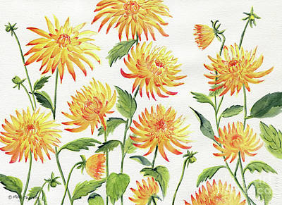 Painting - Dahlia Flowers 2 by Melly Terpening