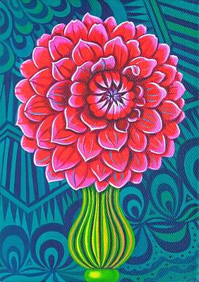 Multi Colored Painting - Dahlia by Jane Tattersfield