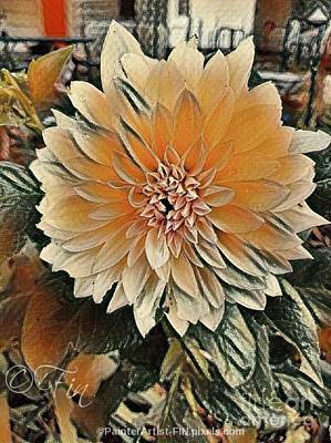 Painting - Dahlia Mocha Latte by PainterArtist FIN