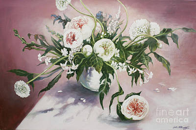 Painting - Dahlia Vase  by Lin Petershagen