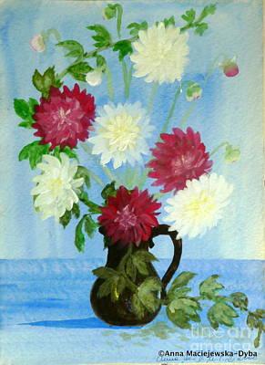 Painting - Dahlias by Anna Folkartanna Maciejewska-Dyba