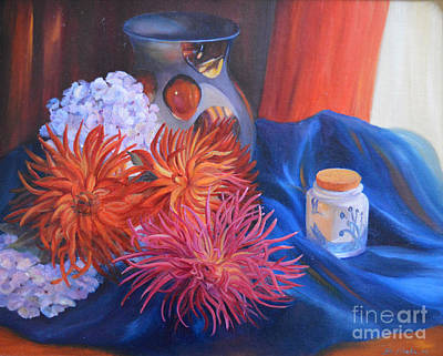 Painting - Dahlias by Beatrice Cloake