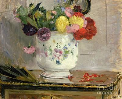 Dahlias Art Print by Berthe Morisot