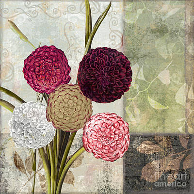 Warm Tones Painting - Dahlias For Donna II by Mindy Sommers