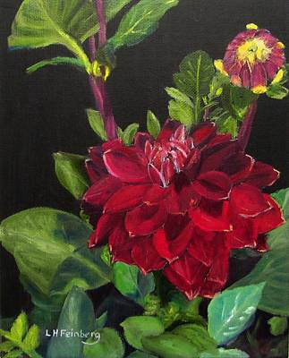 Painting - Dahlias In My Garden by Linda Feinberg