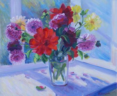 Dahlias Original by Irina Bakhareva