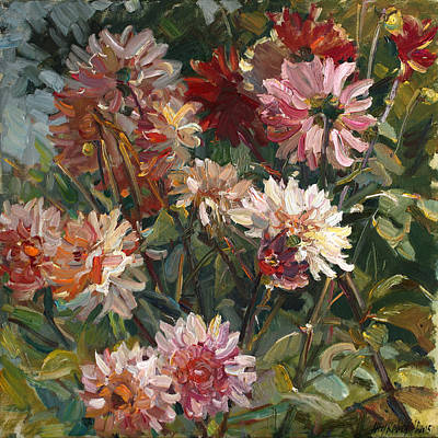 Painting - Dahlias by Juliya Zhukova