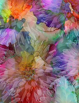 Digital Art - Dahlias by Klara Acel