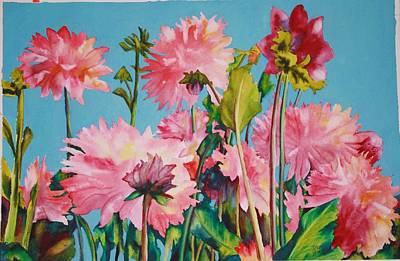 Painting - Dahlias Victoria by Diane Ziemski