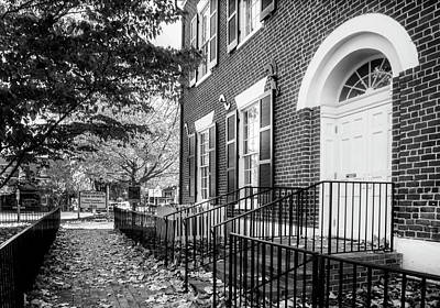 Autumn Photograph - Dahlonega Gold Museum In Black And White by Greg Mimbs