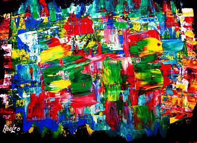 .....dah...trip........wow... Art Print by Adolfo hector Penas alvarado
