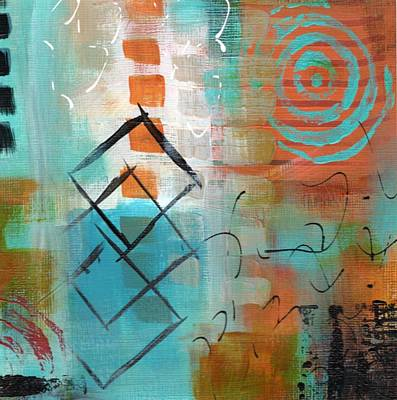 Painting - Daily Abstract Week 2, #3 by Suzzanna Frank