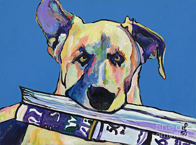 Pat Saunders-white Dog Painting - Daily Duty by Pat Saunders-White