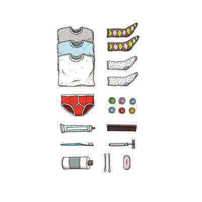 Drawing - Daily Essentials by David M Galletly