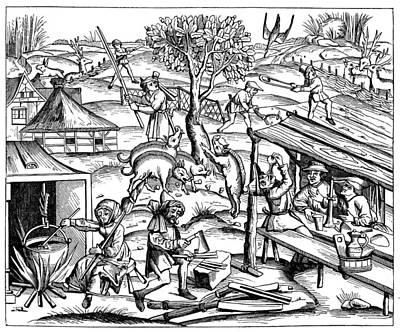 Daily Life: France, 1517 Art Print by Granger