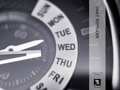Photograph - Daily Reminder Citizen Watch Eco Drive Series by ISAW Gallery