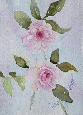 Painting - Dainty Pinks by Lisa Vincent