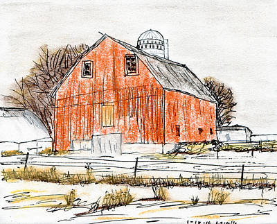 Old Home Place Mixed Media - Dairy Barn by R Kyllo
