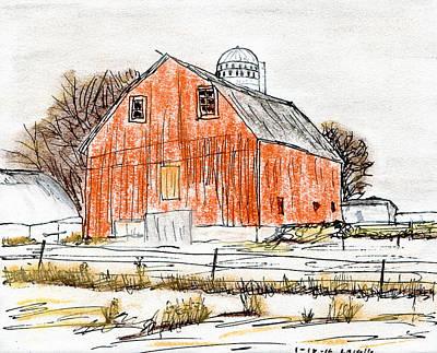 Dairy Barn Print by R Kyllo
