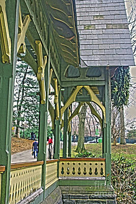 Photograph - Dairy Cottage Porch by Sandy Moulder