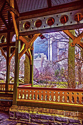 Photograph - Dairy Cottage Porch View by Sandy Moulder