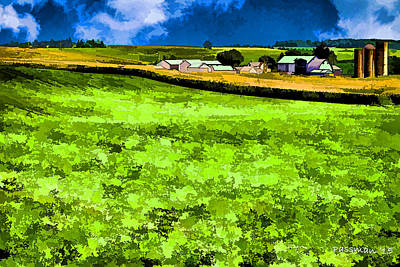 Photograph - Dairy Farm Digital Painting by Roger Passman