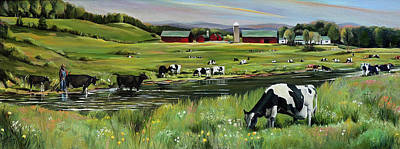 Painting - Dairy Farm Dream by Nancy Griswold