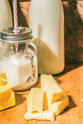 Milk Bottle Photograph - Dairy Farm Products by Jorgo Photography - Wall Art Gallery