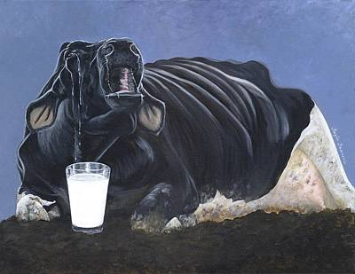Rights Painting - Dairy Is A Mother's Tears by Twyla Francois