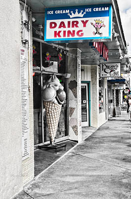 Photograph - Dairy King Street by Sharon Popek