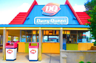 Hamburger Painting - Dairy Queen by Lanjee Chee