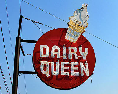 Photograph - Dairy Queen Sign Color by Joseph C Hinson Photography