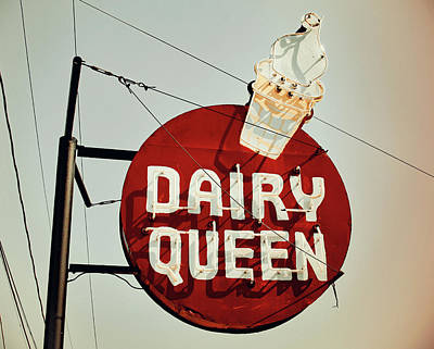 Photograph - Dairy Queen Sign Vintage by Joseph C Hinson Photography