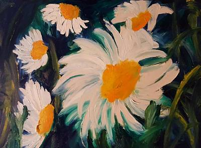 Painting - Daisies                           33 by Cheryl Nancy Ann Gordon
