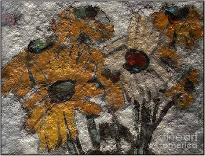 Flower Still Life Mixed Media - Daisies 1 by Pemaro
