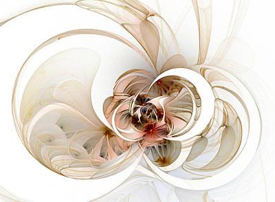 Framed Art Digital Art - Daisies by Amanda Moore