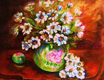 Painting - Daisies And Ginger Jar by Carole Spandau