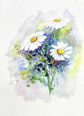 Painting - Daisies by Asha Sudhaker Shenoy