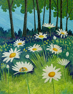 Pastel - Daisies By The Lake by Michele Fritz