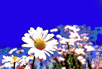 Mixed Media - Daisies by Charles Shoup