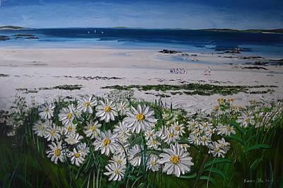 Painting - Daisies Connemara Ireland by Diana Shephard